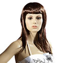 Perruque femme cheveux longs bruns