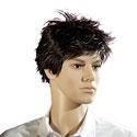 Perruque homme cheveux courts bruns