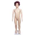 Mannequin garçon 5 ans avec perruque cheveux courts brun