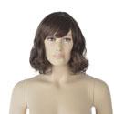 Perruque femme cheveux mi-longs châtains