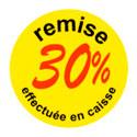"""Gommettes adhésives """"remise 30 %"""""""