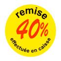 """Gommettes adhésives """" remise 40 %"""""""