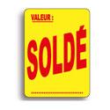 """Étiquettes adhésives """"Soldé"""""""