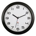 Horloge murale ronde, radio pilotée