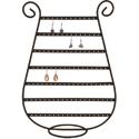 Présentoir bijoux harpe