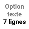 Option texte 7 lignes