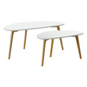 Tables en bois ovales