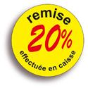 """Gommettes adhésives """"remise -20%"""""""