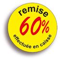 """Gommettes adhésives """"remise -60%"""""""