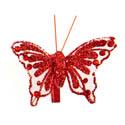 Papillons pailletés sur pince