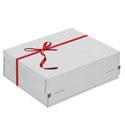 Boîtes postale cadeau avec noeud rouge