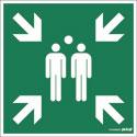 """Plaque de signalisation """"Point de rassemblement"""""""