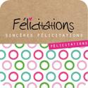 """Étiquettes cadeaux adhésives """"Félicitations"""""""