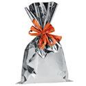 Pochettes cadeaux polypro métallisées brillantes