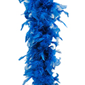 Boa à plume bleu