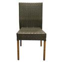Chaise tressée marron