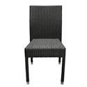 Chaise tressée noire