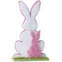 Silhouette de 2 lapins