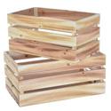 Lot de 2 caisses en bois ajourées