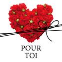 """Etiquettes cadeaus adhésives """"Pour toi"""""""