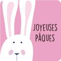 """Etiquettes cadeaux adhésives """"Joyeuses Pâques"""""""