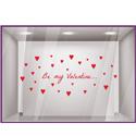 "Sticker vitrine ""Be my Valentine"""