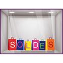 Sticker vitrines Soldes sacs