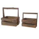 Caisses en bois avec anse