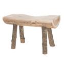 Tabouret en bois avec écorce