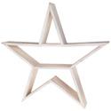 Etagère en bois sous forme d'étoile