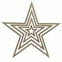 Étoile pailletée à suspendre