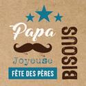 """Étiquettes cadeaux adhésives """"Bonne fête Papa"""""""