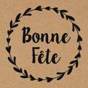 """Étiquettes cadeaux adhésives """"Bonne fête"""""""