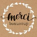 """Étiquettes cadeaux adhésives """"Merci beaucoup"""""""
