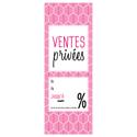 Affiche ventes privées