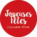 """Étiquettes cadeaux adhésives """"Joyeuses Fêtes"""""""