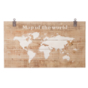 Carte du monde sur bois