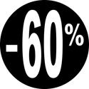 """Gommettes adhésives """"-60%"""""""