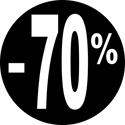 """Gommettes adhésives """"-70%"""""""