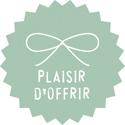 """Étiquettes cadeaux adhésives """"Plaisir d'offrir"""""""