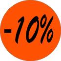 """Gommettes adhésives """"-10%"""""""