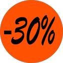 """Gommettes adhésives """"-30%"""""""