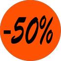 """Gommettes adhésives """"-50%"""""""