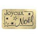 """Étiquettes cadeaux adhésives """"Joyeux Noël"""""""