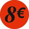 """Gommettes adhésives """"8€"""""""
