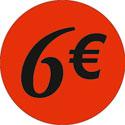 """Gommettes adhésives """"6€"""""""