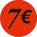 """Gommettes adhésives """"7€"""""""