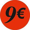 """Gommettes adhésives """"9€"""""""