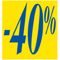 """Affiche """"-40%"""""""
