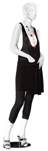 Mannequin femme, cheveux sculptés, bras pliés